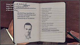 Powróć do sali, w której przebywa Tiernan, gdyż będziesz mógł zadać mu nowe pytanie - Events prior to murder (Wydarzenia mające miejsce przed popełnieniem zbrodni) #1 - Case 12 - The Studio Secretary Murder (4) - Główne śledztwa - L.A. Noire - poradnik do gry