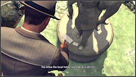 Wejdź do wody i wciśnij przycisk A, dzięki czemu główny bohater powinien wspiąć się na górną część fontanny #1 - Case 13 - The Quarter Moon Murders (1) - Główne śledztwa - L.A. Noire - poradnik do gry