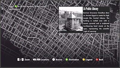 Podobnie jak wcześniej, musisz wywołać mapę miasta - Case 13 - The Quarter Moon Murders (1) - Główne śledztwa - L.A. Noire - poradnik do gry