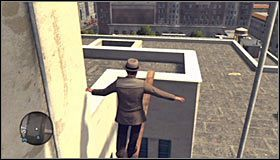 Udaj się w stronę prawego rusztowania i odszukaj miejsce, w którym będziesz mógł kontynuować wspinaczkę, używając do tego celu drabiny #1 - Case 13 - The Quarter Moon Murders (2) - Główne śledztwa - L.A. Noire - poradnik do gry