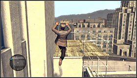 Skręć teraz w lewo i podejdź do kolejnej rurki #1, dzięki której będziesz mógł dotrzeć na wyżej położoną część dachu - Case 13 - The Quarter Moon Murders (2) - Główne śledztwa - L.A. Noire - poradnik do gry