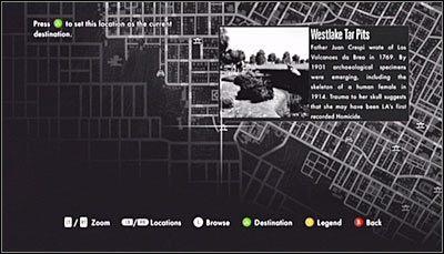 Tradycyjnie już zacznij od wywołania mapy miasta - Case 13 - The Quarter Moon Murders (2) - Główne śledztwa - L.A. Noire - poradnik do gry