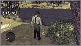 Wykonanie opisanych powyżej czynności pozwoli Ci przedostać się na niewielką wysepkę #1 - Case 13 - The Quarter Moon Murders (2) - Główne śledztwa - L.A. Noire - poradnik do gry