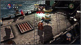 Przełączamy na pana Gibbsa i naprawiamy mechanizm na burcie - Czarna Perła atakuje - opis przejścia - Klątwa Czarnej Perły - LEGO Piraci z Karaibów - poradnik do gry