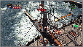 Butelka 6 i 7- Na Czarnej Perle znajduje się oszklona luka - niszczymy ją krzykiem Syreny - Czarna Perła atakuje - butelki - Klątwa Czarnej Perły - LEGO Piraci z Karaibów - poradnik do gry