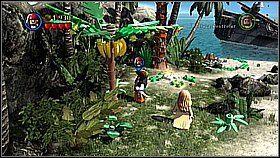 Zaraz po rozpoczęciu korzystamy z kompasu Jacka i wybieramy górny skarb (z czaszką) - Nora przemytników - opis przejścia - Klątwa Czarnej Perły - LEGO Piraci z Karaibów - poradnik do gry