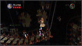 Następnie chwytamy się łańcucha jako Elizabeth - Nora przemytników - opis przejścia - Klątwa Czarnej Perły - LEGO Piraci z Karaibów - poradnik do gry