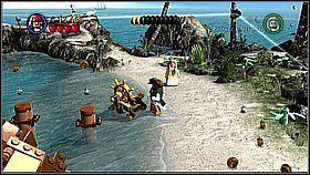 7 - Nora przemytników - opis przejścia - Klątwa Czarnej Perły - LEGO Piraci z Karaibów - poradnik do gry