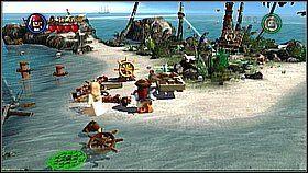 8 - Nora przemytników - opis przejścia - Klątwa Czarnej Perły - LEGO Piraci z Karaibów - poradnik do gry