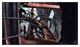Po lewej czekał już na mnie krzesełko transportowe - Pływająca Wyspa cz.5 - Schizm: Prawdziwe Wyzwanie - poradnik do gry