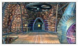 Przed wejściem do jaskini stało coś, co wyglądało jak kompas, ale to urządzenie akurat teraz nie było mi przydatne - Miasto w Przestworzach cz.1 - Schizm: Prawdziwe Wyzwanie - poradnik do gry