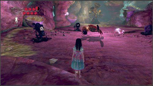 Na dobry początek zajmiemy się problemem instrumentów schowanych za przejście po lewej stronie od drzwi z trójzębem - Choral Coral - Rozdział 2 - Deluded Depths - Alice: Madness Returns - poradnik do gry