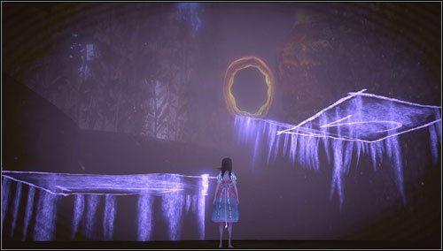 Zmniejszamy się i wyskakujemy po niewidzialnych platformach w górę - Oyster Garden- Beds Available (1) - Rozdział 2 - Deluded Depths - Alice: Madness Returns - poradnik do gry