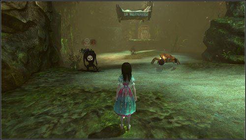 Na kolejnym placu toczymy bój z Cannon Crabem oraz kilkoma sztukami Insidious Ruin - Oyster Garden- Beds Available (2) - Rozdział 2 - Deluded Depths - Alice: Madness Returns - poradnik do gry
