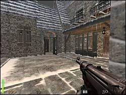 Udajemy się dalej, aż dotrzemy do małego mostku - Mission 2: Part 1 - Return to Castle Wolfenstein - poradnik do gry