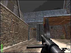 Cofamy się teraz do przejścia, które wcześniej minęliśmy - Mission 2: Part 1 - Return to Castle Wolfenstein - poradnik do gry