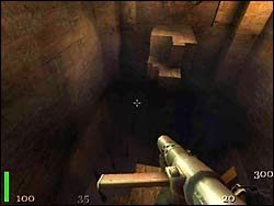 Znajdujemy się w początkowej części etapu - Mission 2: Part 2 - Return to Castle Wolfenstein - poradnik do gry