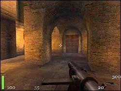 Korytarzem dotrzemy do pomieszczenia, w którym po zabiciu dwóch Niemców oraz dwóch zombie, będziemy mogli zabrać ze stołu dziennik Profesora Zempha - Mission 2: Part 2 - Return to Castle Wolfenstein - poradnik do gry