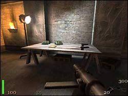 Znajdujemy się w tej części, do której nie mogliśmy dotrzeć ponieważ zawaliła się pod nami podłoga - Mission 2: Part 2 - Return to Castle Wolfenstein - poradnik do gry