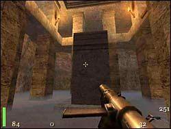 Sekret 2 - Gdy uruchomimy kolejną dźwignię, ze dwóch krypt w ścianach wyjdą zombie - Mission 2: Part 3 - Return to Castle Wolfenstein - poradnik do gry