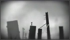 Maszerując w prawo dojdziemy do wysoko ściętych pni drzew [1] - Rozdział 7 - Opis przejścia - Limbo - poradnik do gry