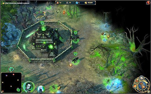 Na szcz�cie gry nie zaczynamy z pustymi kieszeniami - cz�� budowli jest ju� zbudowana. - 4 misja - Paj�czy fortel - Kampania - Might & Magic: Heroes VI - Nekropolia - poradnik do gry