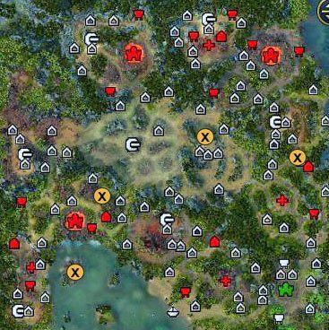 Oto miejsca, gdzie mo�emy znale�� kawa�ki dysku. - 4 misja - Paj�czy fortel - Kampania - Might & Magic: Heroes VI - Nekropolia - poradnik do gry