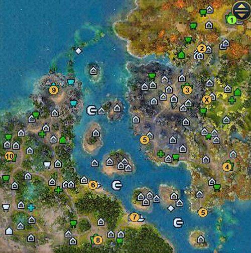 1 - lokacja startowa - 3 misja - mapy - Kampania - Might & Magic: Heroes VI - Nekropolia - poradnik do gry