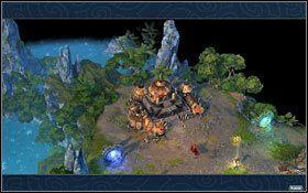 Obok twierdzy wzniesiono dwa portale. - 3 misja - W g�szczach mroku - Kampania - Might & Magic: Heroes VI - Inferno - poradnik do gry