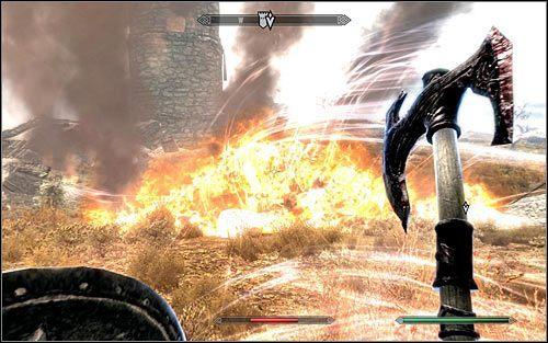 Niezale�nie od obranej taktyki dzia�ania musisz walczy� do momentu, w kt�rym smok zostanie pokonany - Pokonanie smoka - Budzenie smoka - The Elder Scrolls V: Skyrim - g��wny w�tek fabularny - poradnik do gry