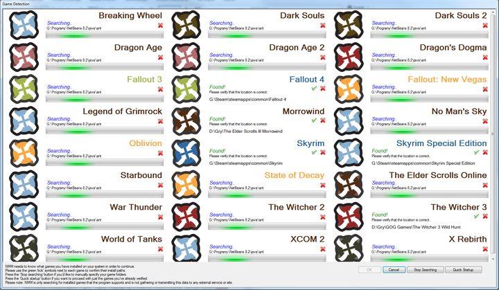 Nexus Mod Manager поддерживает многие популярные игры и ищет компьютер пользователя, чтобы найти их. - Как установить модификации? | Установка модов шаг за шагом - The Elder Scrolls V: Skyrim - руководство, карты, квесты
