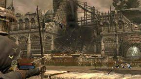 Walcz, dop�ki elficcy bracia nie otworz� bramy, a wtedy biegnij przed siebie i po schodach na g�r� - Dzielnice wewn�trzne (2) - Rozdzia� 1 - W�adca Pier�cieni: Wojna na P�nocy - poradnik do gry
