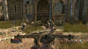 Kiedy usłyszysz, że wrogowie atakują ze wszystkich stron, oznaczać to będzie łuczników i gobliny po lewej i prawej - Dzielnice wewnętrzne (2) - Rozdział 1 - Władca Pierścieni: Wojna na Północy - poradnik do gry