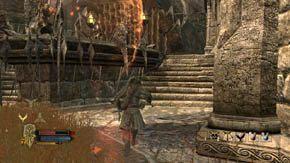Po odparciu atakuj sojusznicze elfy otworz� ci kolejn� bram� - Dzielnice wewn�trzne (2) - Rozdzia� 1 - W�adca Pier�cieni: Wojna na P�nocy - poradnik do gry