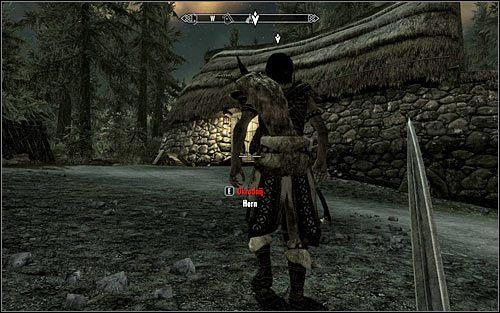 Najrozsądniejszym rozwiązaniem jest wyeliminowanie Herta w momencie gdy będzie znajdował się na zewnątrz chatki - Zlecenie- Zabij Herna | Zadania Mrocznego Bractwa - The Elder Scrolls V: Skyrim - poradnik, mapy, questy