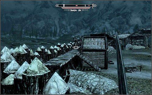 Agnis przebywa oczywiście wewnątrz fortu, przy czym przedostanie się do środka nie jest oczywistą sprawą - Zlecenie- Zabij Agnis   Zadania Mrocznego Bractwa - The Elder Scrolls V: Skyrim - poradnik, mapy, questy