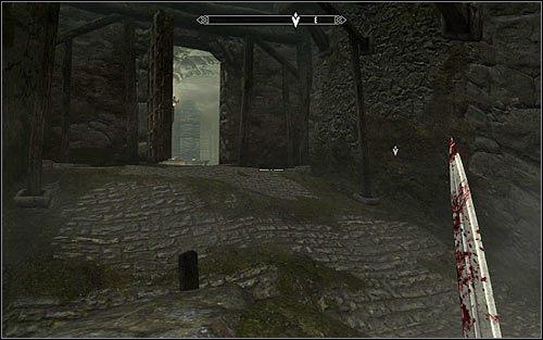 Niezależnie od tego czy zabiłeś bandytę czy też nie musisz teraz skierować się na wschód - Zlecenie- Zabij Agnis   Zadania Mrocznego Bractwa - The Elder Scrolls V: Skyrim - poradnik, mapy, questy