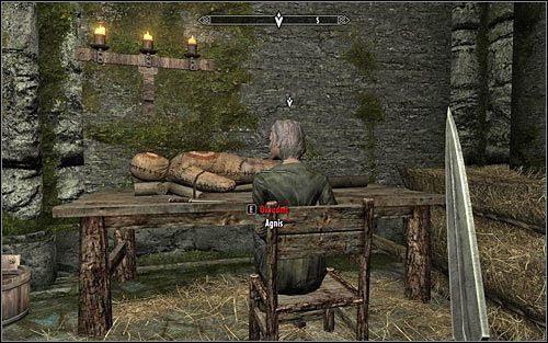 Niezależnie od tego w jaki sposób dotarłeś do sypialni Agnis powinna ona leżeć w swoim łóżku lub siedzieć na krześle - Zlecenie- Zabij Agnis   Zadania Mrocznego Bractwa - The Elder Scrolls V: Skyrim - poradnik, mapy, questy