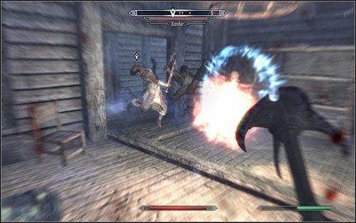 Cicha eliminacja Safii niestety nie wchodzi w grę, bo raczej nie przyłapiesz jej na sytuacji wybrania się do snu ani nawet nie będziesz mógł ustawić się za jej plecami by przeprowadzić atak z zaskoczenia - Zlecenie- Zabij Safię | Zadania Mrocznego Bractwa | Solucja Skyrim - The Elder Scrolls V: Skyrim - poradnik, mapy, questy