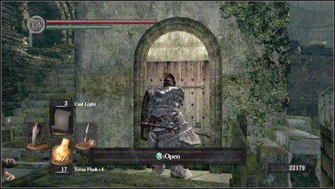 Przed nami trudny fragment tej lokacji - most obrzucany bombami - Undead Burg (2) | Opis przejścia - Dark Souls - poradnik do gry