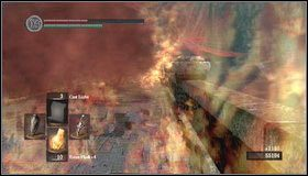 Aby przebiec dalej, musimy wywabić smoka - Undead Burg - most z Wywerną | Opis przejścia - Dark Souls - poradnik do gry