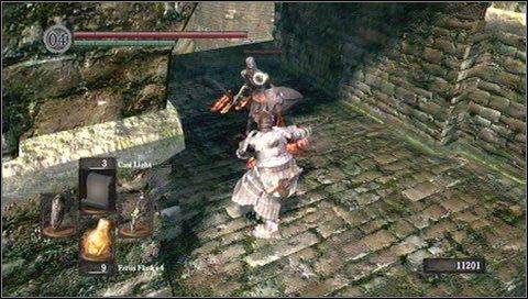 6 - Undead Burg - most z Wywerną - Opis przejścia - Dark Souls - poradnik do gry