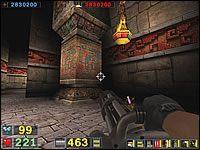 Sekret #1: W pierwszym korytarzu zajrzyj za czwartą z kolei kolumnę po prawej - Misja 5: The Pit - Serious Sam: Drugie Starcie - poradnik do gry