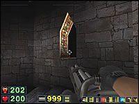 Sekret #5: W jednym z okienek w wieży zauważysz małego czerwonego potworka - Misja 5: The Pit - Serious Sam: Drugie Starcie - poradnik do gry