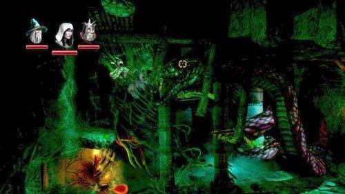 W drugim pomieszczeniu natkniesz się na pierwszego bossa, dużego węża - Zapomniana Dzicz (2) - Opis przejścia gry - Trine 2 - poradnik do gry
