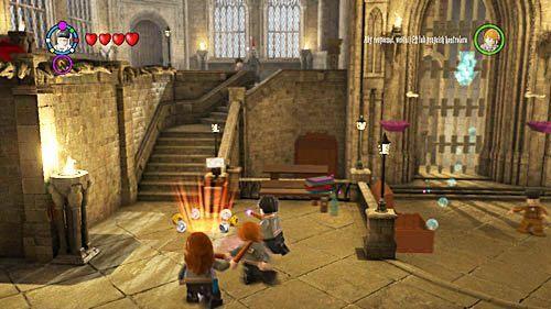 Wciąż podążamy za Nickiem, dotrzemy przed zamknięte wejście przed którymi stoi profesor Horacy - Widmookulary - Opis przejścia - Rok 6 - LEGO Harry Potter: Lata 5-7 - poradnik do gry
