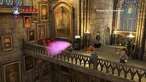Po lekcji udajemy się za Nickiem dochodzi do momentu kiedy duch skręca a my nie mamy schodów - Lekcja 3 - Wywar Żywej Śmierci - Opis przejścia - Rok 6 - LEGO Harry Potter: Lata 5-7 - poradnik do gry
