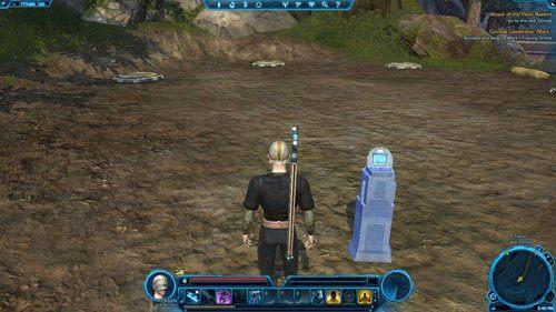 Po włączeniu konsoli pojawi się Mark II Training Droid [+], z którym będziesz musiał się rozprawić - (L04) Combat Leadership- Mark II | Tython - Star Wars: The Old Republic - poradnik do gry