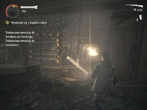 Dojdziesz do większego pomieszczenia, z którego widać wyjście z kopalni - Mirror Peak (3) - Odcinek 3- Okup - Alan Wake - PC - poradnik do gry
