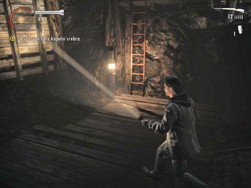 Użyj go, po czym wyjdź na górę po pobliskiej drabinie - Mirror Peak (3) - Odcinek 3- Okup - Alan Wake - PC - poradnik do gry